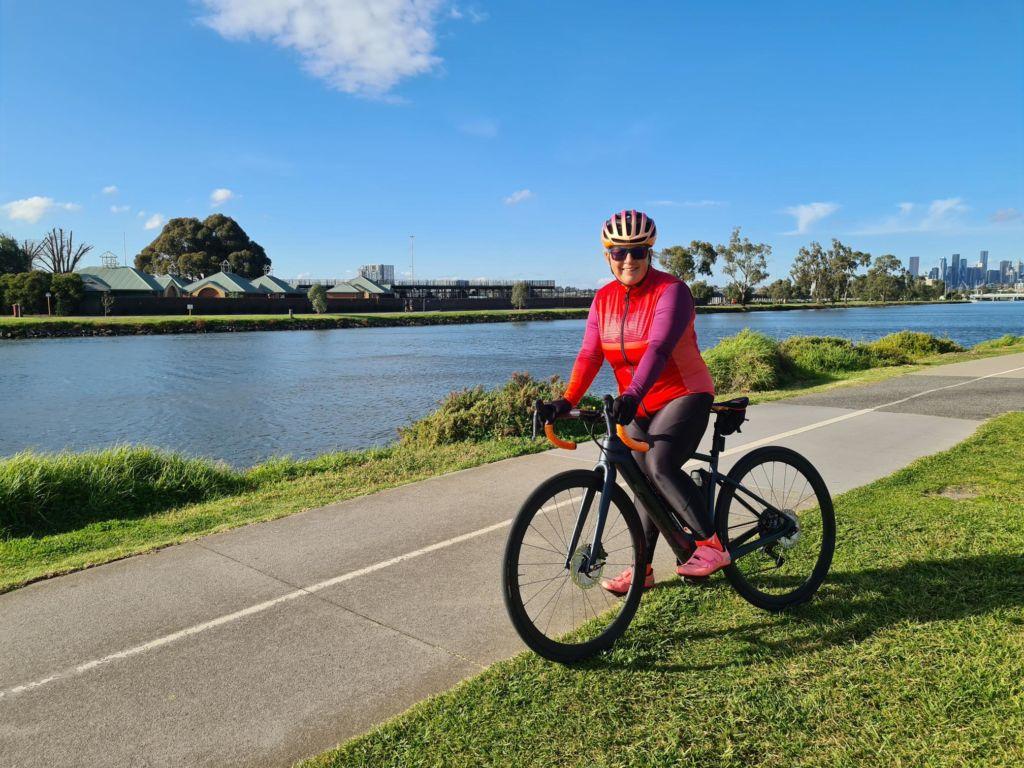 This Girl Can ambassador - Tina riding her bike